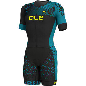 Alé Cycling Rush Tri SS Unitard Long Men black-ottanio